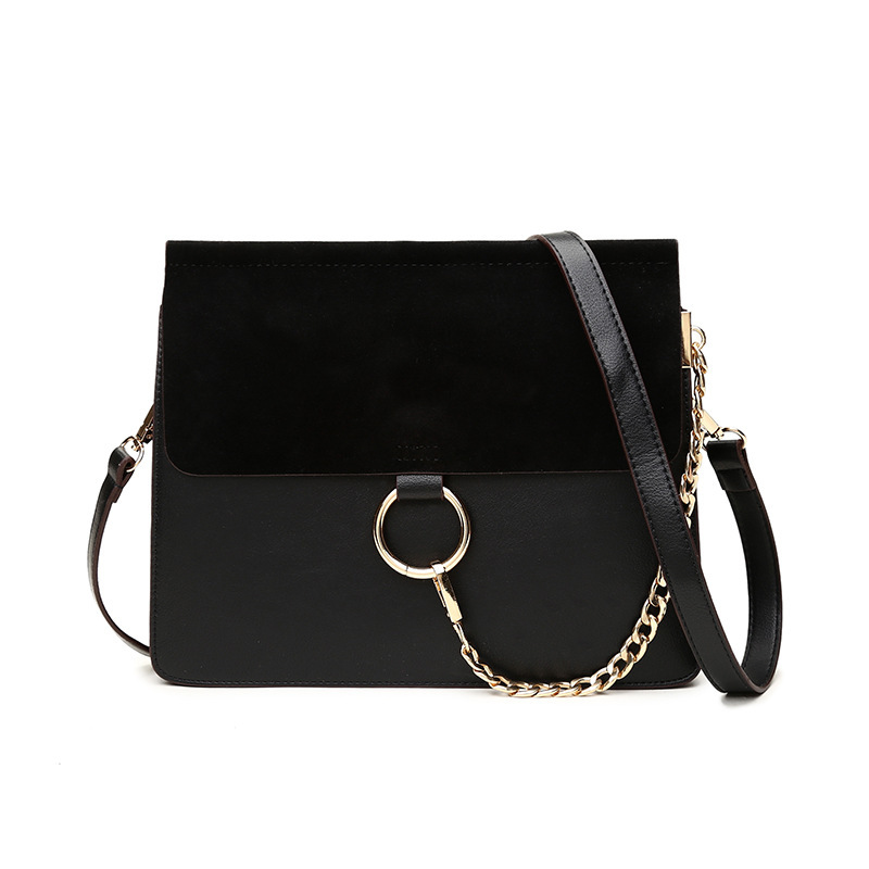 New Real Leather Black Circle Single Thin Cover Shoulder Bags for Women 2017 Bolsa Feminina Square Fold Messenger Bag Luxurious new real leather handbag women locomotive messenger bags bolsa feminina black classics genuine bag for women ladies shoulder bag