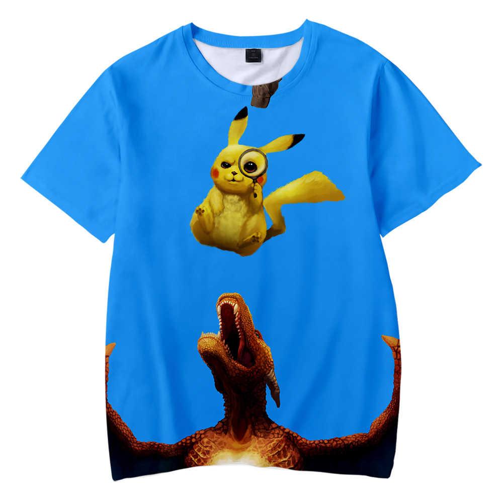 ddfbf004 ... BTS Pokemon Detective Pikachu 3D Printed Children T-shirt Fashion  Summer Short Sleeve T shirt
