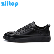 Ziitop New Korean Style Skateboard Shoes for Men Leather Low Top Sport Shoes Men Outdoor Athletic Sneakers Men Walking Trainers