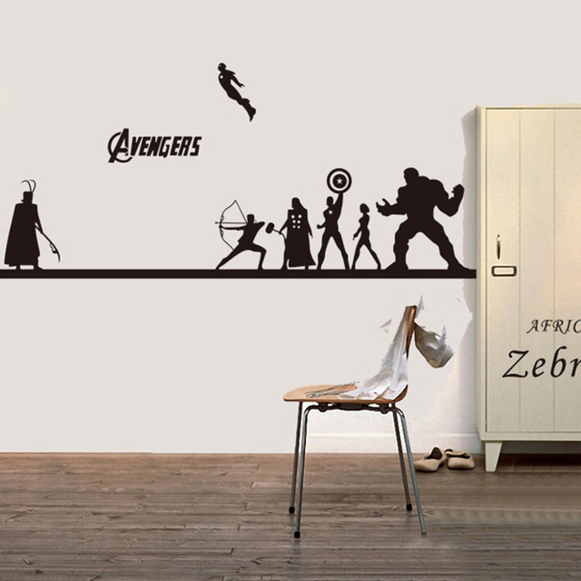 Creative DIY the avengers wall sticker ,Iron Man & Hulk ...