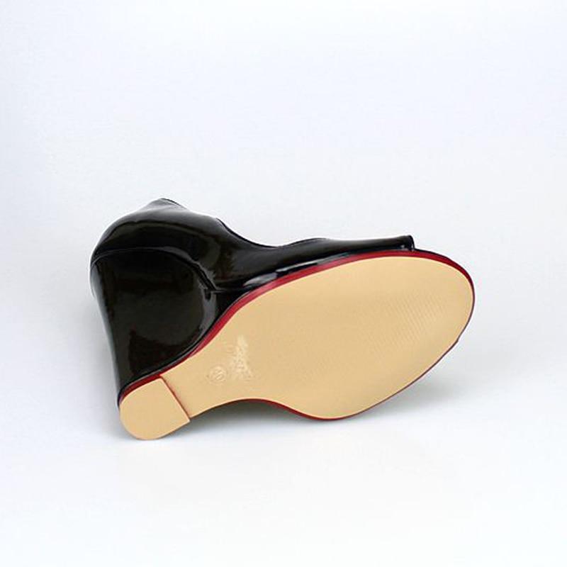 Black Moda Mujer 46 Color Verano Sexy Bombas Pescado Peep Cuero red wine De Red Tamaño Sólido Toe Nueva Gran Baja Boca 40 Alto Tacón Zapatos vXzRw1nq