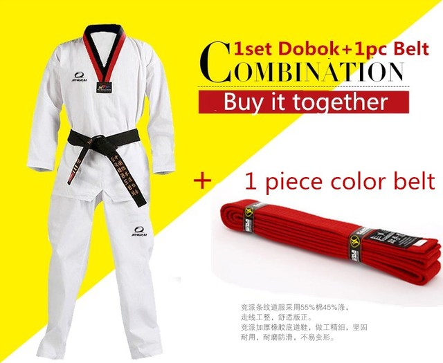 2017 New WTF Taekwondo Dobok Black V-Neck For Kids Adult Martial Arts  Karate Taekwondo
