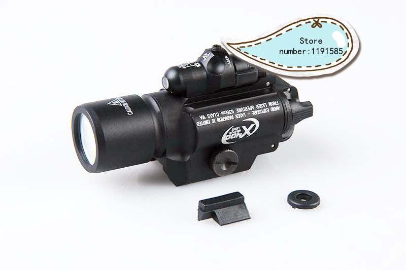 Tactical X400 Gun Light LED Flashlight for Pistol Handgun red Laser Light Hunting Scout Torch for