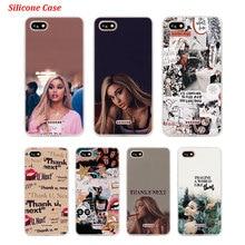 Silicone Phone Case Ariana grande Thank u next for Xiaomi Redmi S2 Note 4 4X 5 5Pro 5A Plus 6 6A 7 Pro Cover