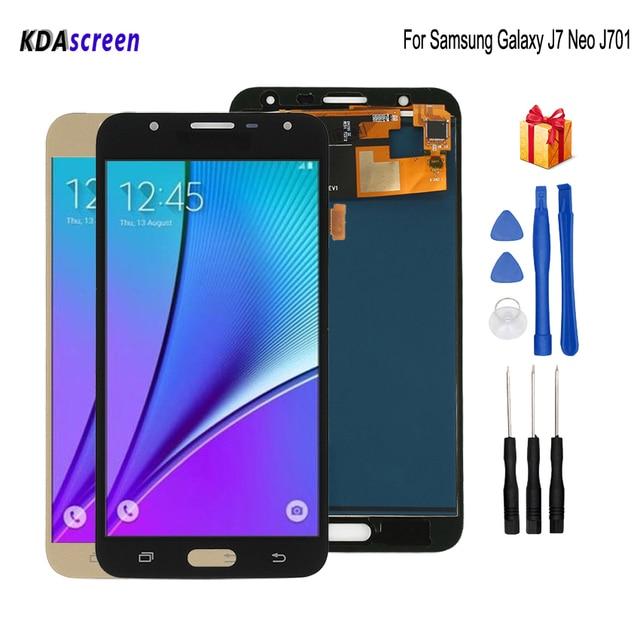 Original AMOLED For SAMSUNG Galaxy J7 Neo J701 LCD Display