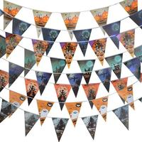 Halloween Haunted house Flags Banner Triangular Birthday Party Flags Decor Festive Supplies Christmas pumpkin decorated gifts