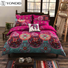 Bohemian Style Floral Printed Bedding Set Twin Queen King Size Bedding Set 4pcs Comforter Duvet Cover