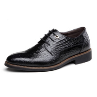 2017 Tutta La Stagione Calda Uomini Grano Del Coccodrillo del Cuoio Genuino Scarpe Oxford Uomini Lace-Up Vestito Tendenza di Moda Scarpe Uomo Scarpe comode