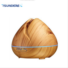 TSUNDERE L 400ML Ultrasonic Aroma Essential Oil Diffuser Air Humidifier Cool Mist Maker Aromatherapy with Wood Grain for Home