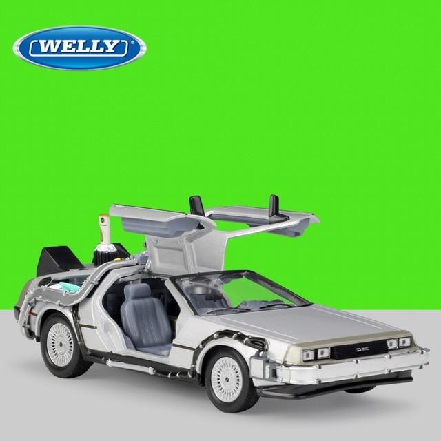 1:24 Welly DMC 12 delorean العودة إلى المستقبل Diecast نموذج سيارة