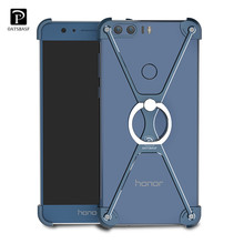 Original Oatsbasf Cover for Huawei Honor 8 Lite/ P8 Lite 2017/ P9 Lite 2017 Case Metal Frame Border Phone Case Cover(China)
