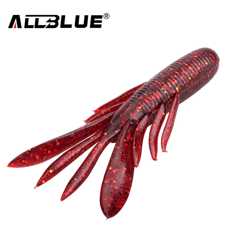 ALLBLUE 6pcs/Lot Custom Baits Super Craws Soft Fishing Lure For Fishing Soft Bait Shrimp Bass Bait Peche Fishing Gear lifelike shrimp style soft pvc fishing baits w hook yellow size l 3 pack