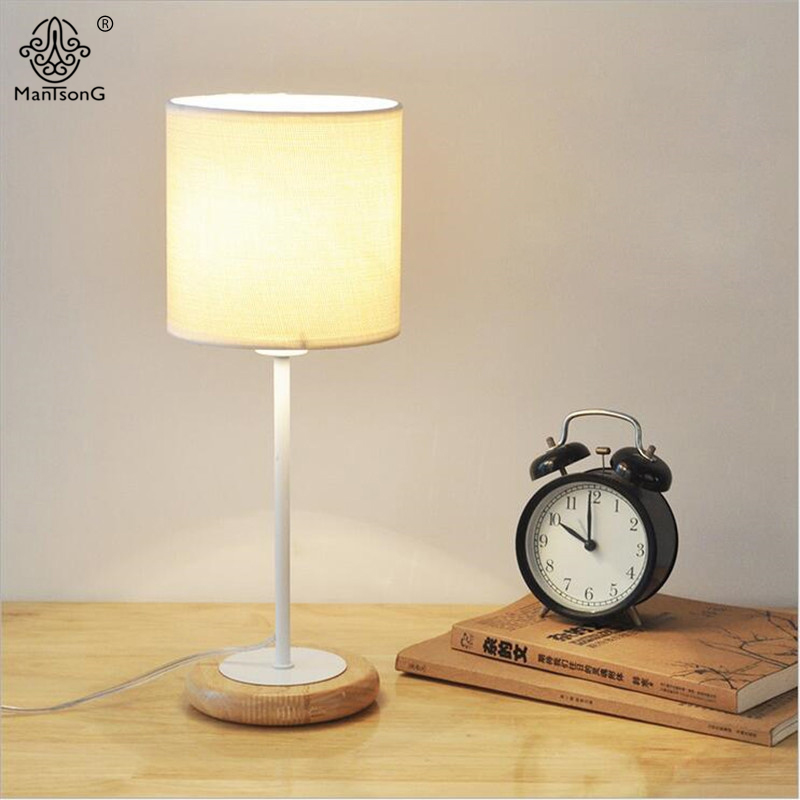 Simple Desk Lamp Wood art Table Lamp Desk Light Fabric Lampshade E27 110V 220V For Bedroom Bedside Reading Table Lamp Lighting indoor brief solid oak wood textile desk lamp fabrics lampshade table light bedroom bedside warm lampara night light luminaria