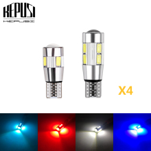 цена на 4PCS Car Styling Car Auto LED T10 Canbus 194 W5W 5730 5630 LED Light Bulb No Error LED Light Parking T10 LED Car Side Light bulb