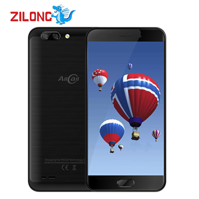 "AllCall Atom 5.2"" IPS 1280*720 MT6737 Quad Core Smartphone 2100mAh 2GB RAM 16GB 8MP+2MP Dual Camera Android 7.0 OTG Mobile Phone"