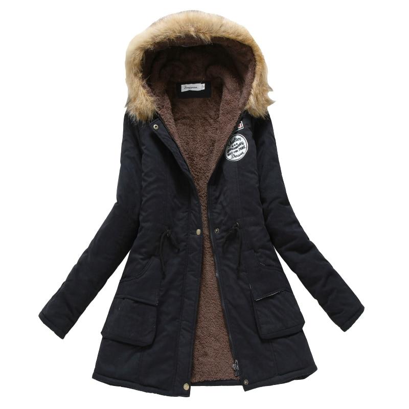 winter coat women 2017 new parka casual outwear military