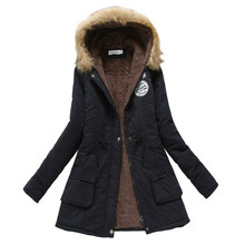 Winter Coat Women 2019 New Parka Casual Outwear Military Hooded Thickening Cotton Coat Winter Jacket Women Fur Clothes CC001(China)