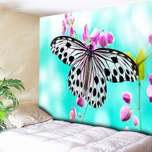 Butterfly Tapestry Wall Hanging Anime Hippie Wall Tapestry  3D Flower Decorative Bohemian Tapestries Wall Cloth Large 230X150CM butterfly water print waterproof wall tapestry