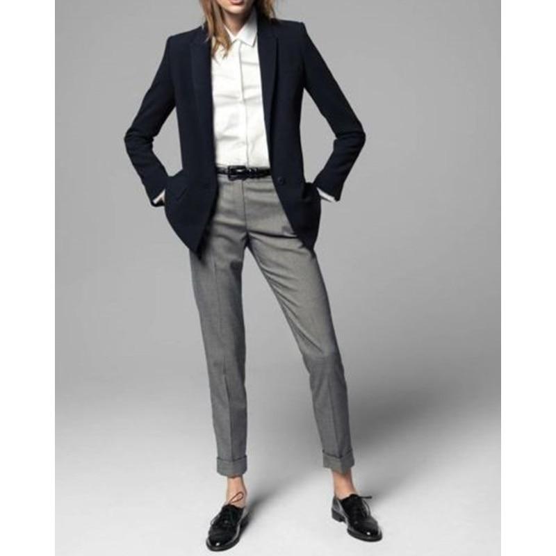 Limited Promotion Full Pantalones Mujer 2 Piece Jacket+pants Women Ladies Business Office Tuxedos Work Wear Suit Bespoke