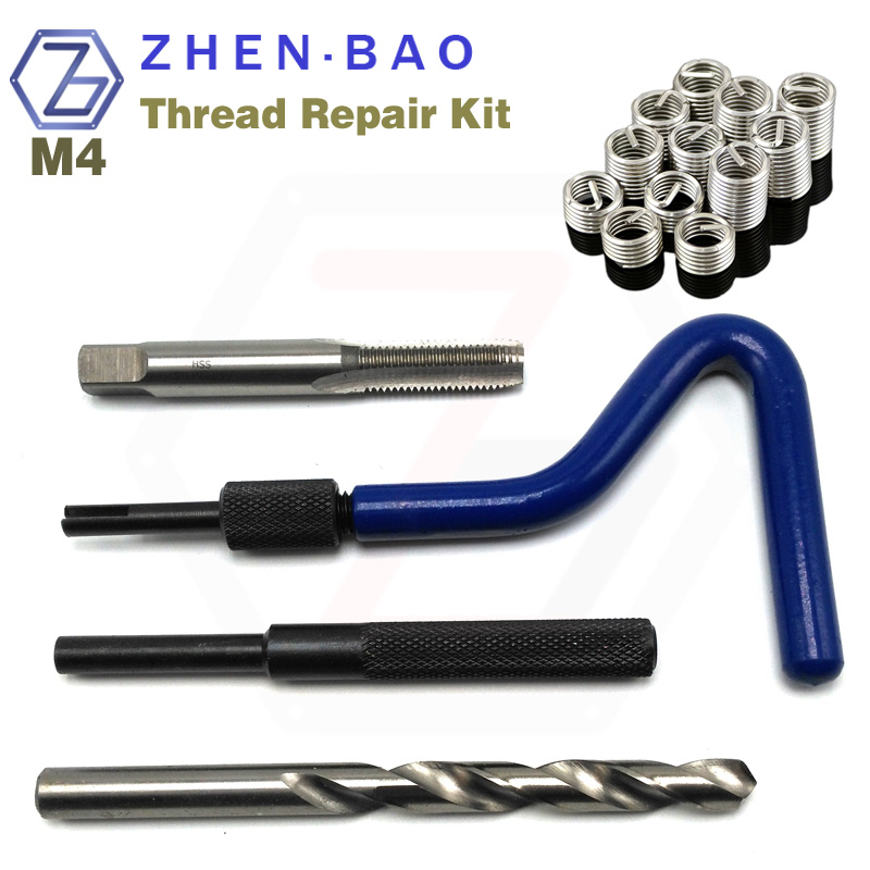 цена на M4 *0.7 , auto car tool helical coil set , high quality Threaded insert kit , ST Tap , Install Handle , Break Tool , Drill