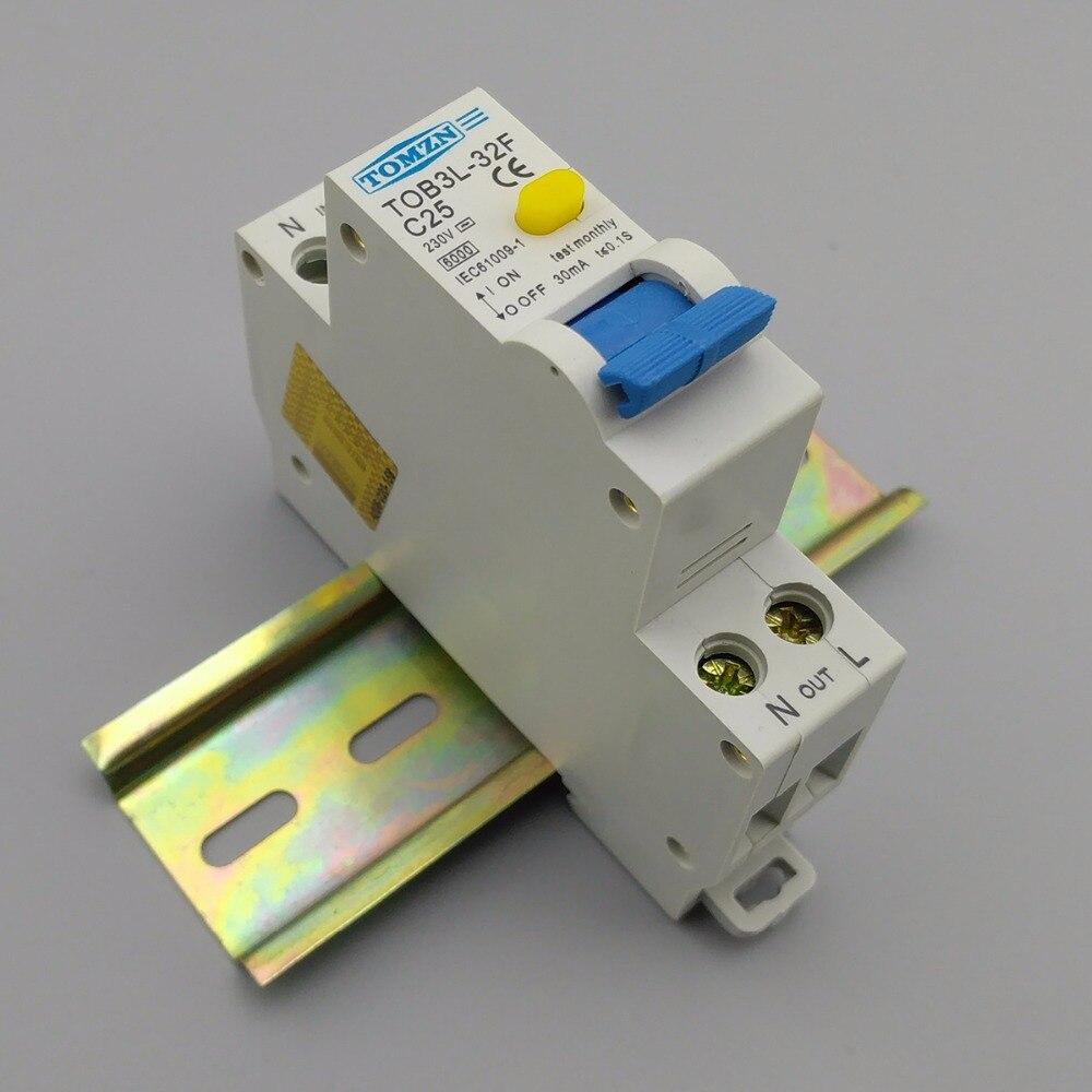 18 MM RCBO 25A 1 P + N 6KA Fehlerstromschutzschalter Differential  Automatische Schutzschalter Mit überstromschutz Und Leckage Schutz In 18 MM  RCBO 25A 1 P + ...
