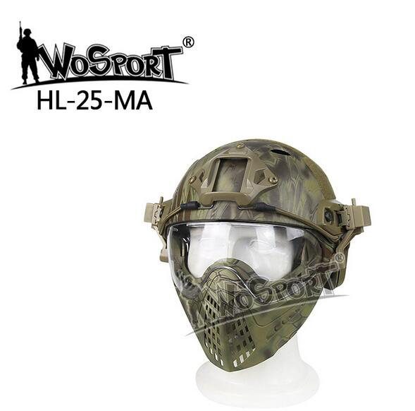 WoSporT Pilot Mask and Fast Helmet Tactical Helmet with Mask for Military  Paintball WarGame Motorcycle Cycling Hunting tactical skull face mask military field us active duty m50 gas mask cs field skull mask for hunting paintball