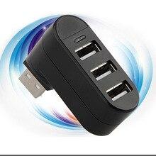 hot sale Rotatable High Speed 3 Port USB HUB 2 0 USB Splitter Converter Adapter For