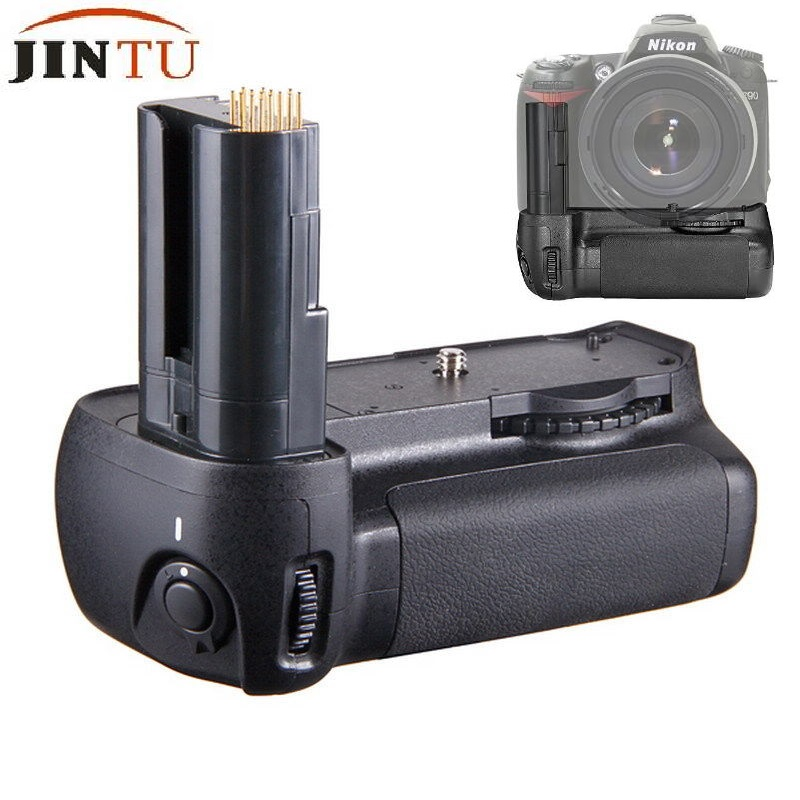 JINTU Batteriegriff Ersatz MB-D80 Arbeitet mit 6 stücke AA Batterie/EN-EL3e Akku + Halter für Nikon D90 D80 DSLR SLR Kamera