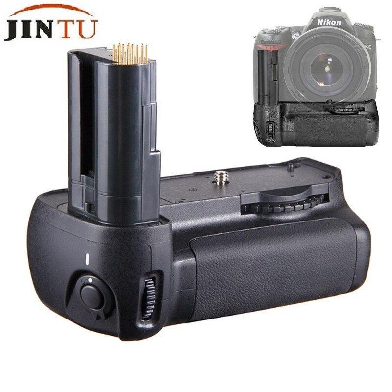 JINTU Battery Grip Replacement MB-D80 Works with 6pcs AA Battery/EN-EL3e Battery + Holder for Nikon D90 D80 DSLR SLR Camera