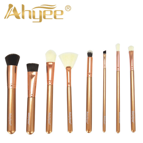 8Pcs Luxury Rose Golden brush New Makeup Brushes Professional brand make up brushes set cosmetic brush high quality makeup tool 4 pcs golden professional makeup brushes waistline sculpting brush set cosmetic tool maquiagem accessories with original box