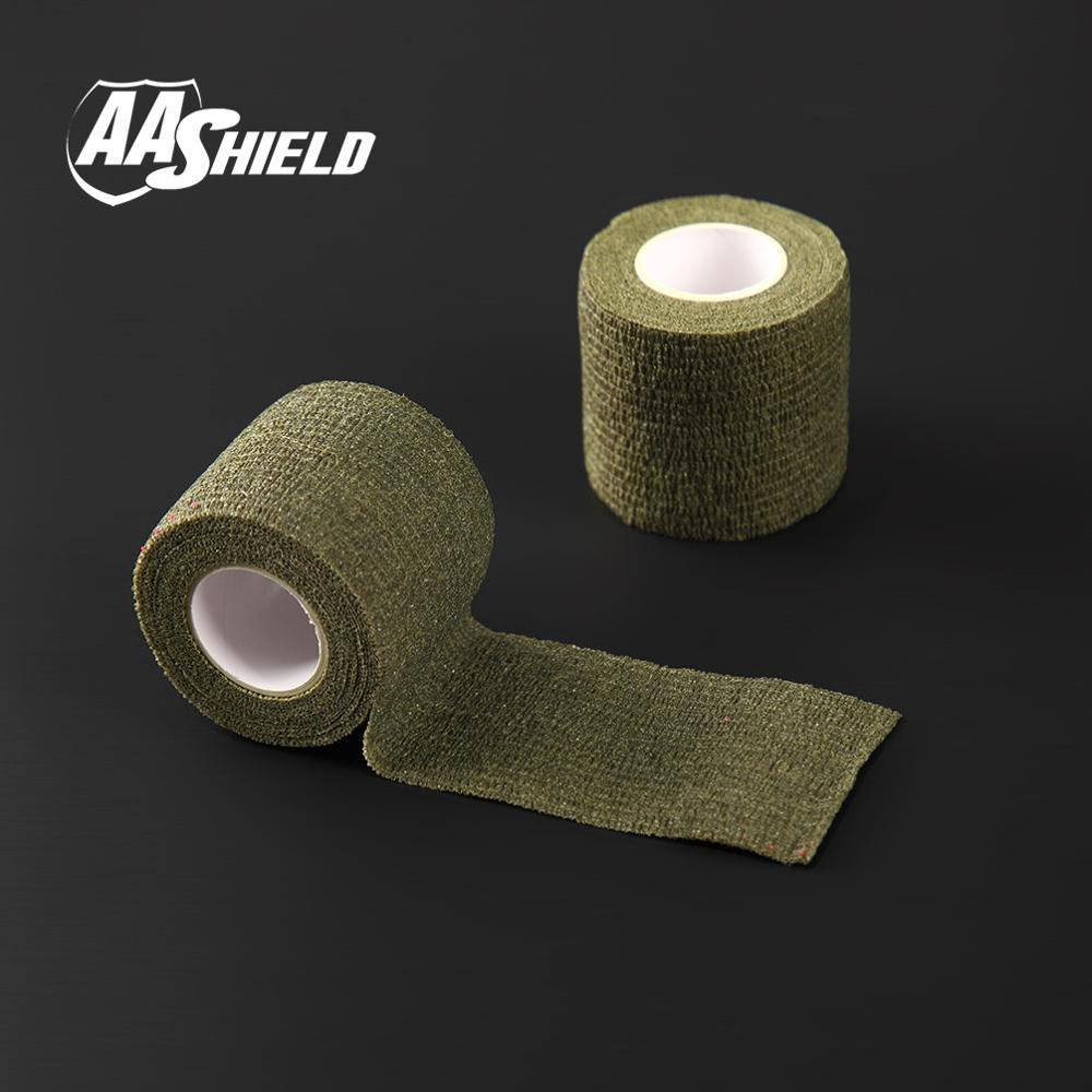 AA Shield Outdoor Camping bandage Camo Tape Military Rifle Covert Adhesive multicolor / Gun OD 3PCS Free Shipping aa shield outdoor camping bandage camo tape military rifle covert adhesive multicolor gun black
