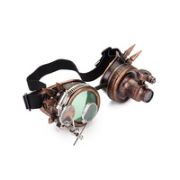 db76f9cb5 Halloween Steampunk Rock Goggles Welding Glasses With Two Colors Lens And  One Light Punk Gothic Cosplay