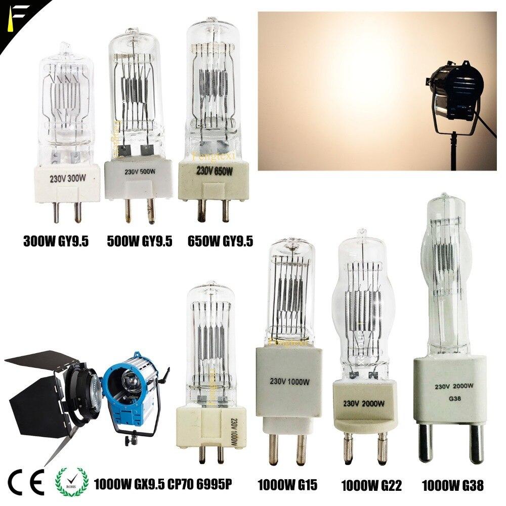 Studio Fresnel Light Bulb 500w650w Gy9.5 2000w G15g22/ CP70 6995P 3200k 500hrs Studio Light Device Lamp Search Light 3000w G38