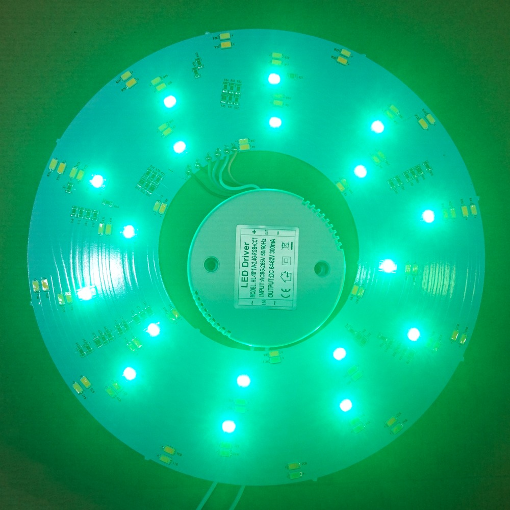 ФОТО IPROLED RF remote control or wifi control color 18w RGB+CCT+ Brightness all dimmable led ceiling light plate with led driver
