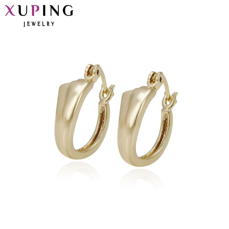 2-29032 Moderate Kosten Xuping Mode Ohrring Neue 2017 Mode Frauen/mädchen Ohrringe Schmuck Gold Farbe Hoops Ohrringe Schmuck Party S31 Schmuck & Zubehör