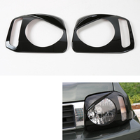 1 Pair Auto Car Front Head Light Lamp Protective Cover Frame Trim For Jimny 2007 2015