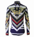 Luxury Brand Mens Dress Shirts 2016 Fashion Design Printed Men Slim Fit Shirt Long Sleeve  BH054
