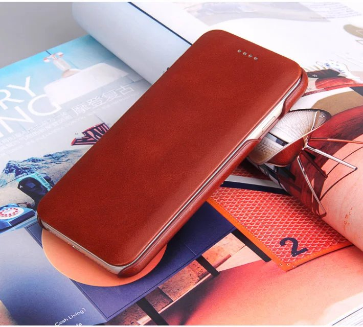 YUANLAM De Luxe Véritable Étui En Cuir Pour iphone 6 s 6 plus Cellulaire cas de couverture de téléphone pour iphone 7 8 8 plus coque funda