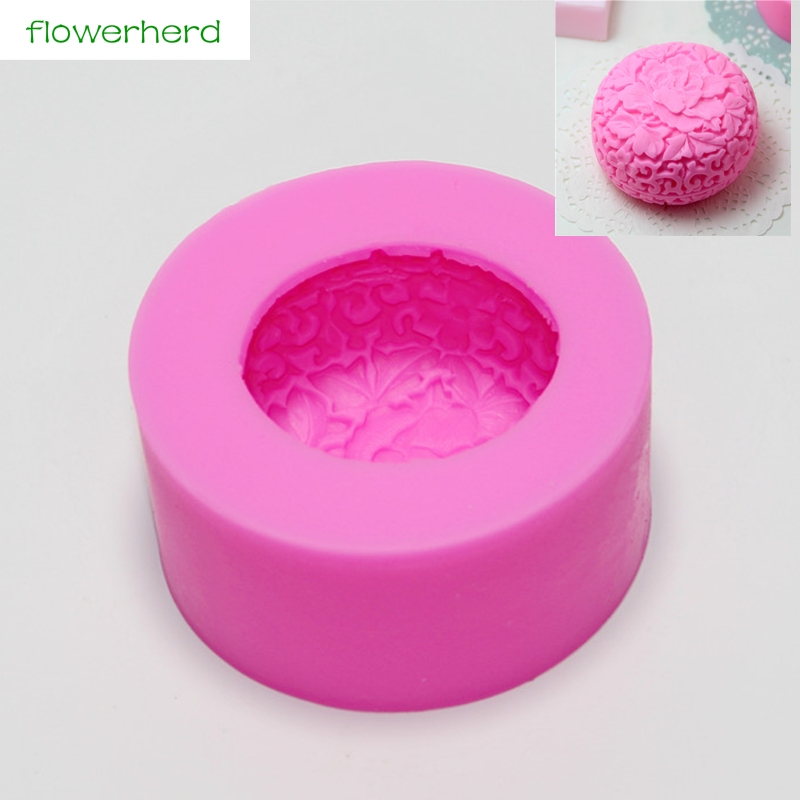 Big Size Soap Mold Flower Silicone 3D Soap Mold Soap Making Tools For DIY Fondant Cake Craft Candle Wax-Resin Handmade