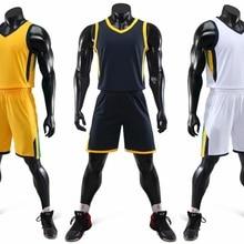 Мужская баскетбольная майка на заказ, баскетбольная форма без рукавов, баскетбольные наборы размера плюс 3 цвета, можно напечатать имя номер