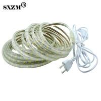 SXZM 10M AC220V 5050 Led Strip Light ON OFF Switch EU Plug Waterproof Flexible Led Tape