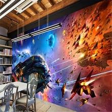 beibehang Large Custom Wallpaper Shocked Space Star Wars Spacecraft Cosmic Science Fiction Mural Background