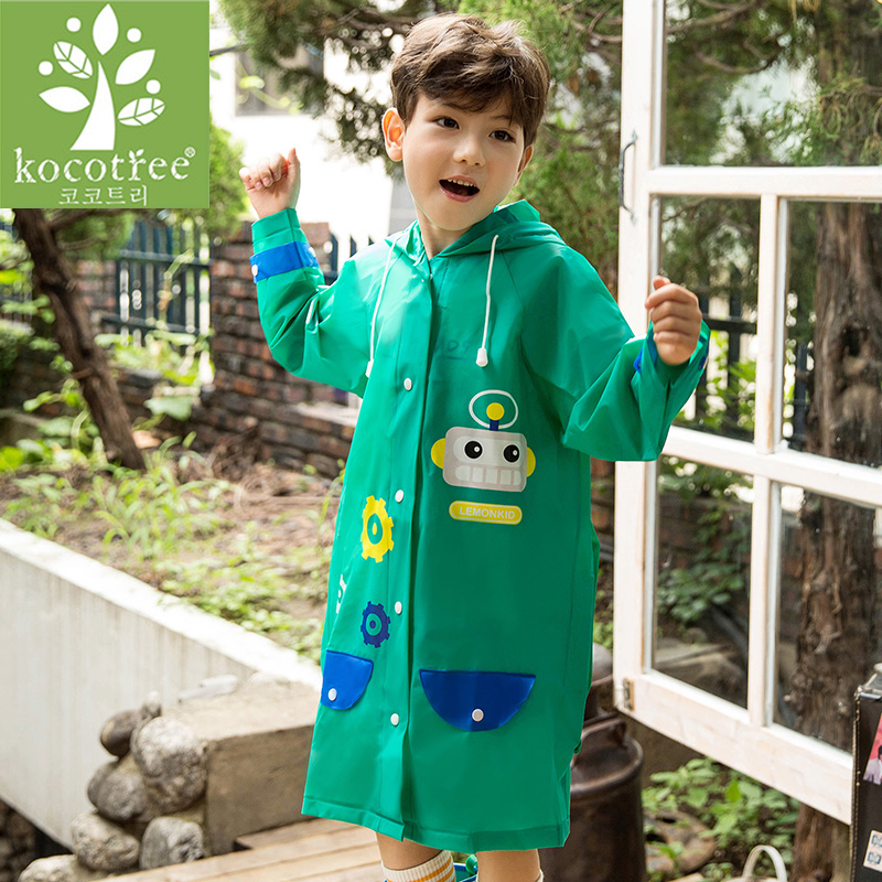 Image 5 - Students Raincoat With School Bags Cool Children RainCoat Kids rain pocket Jacket Waterproof Rain Coat Suit Children Raincoat-in Raincoats from Home & Garden