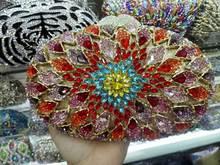 Luxus Kristalle frauen Metall Kupplungen Abendtasche Fashion Hard Case Strass Partei Handtaschen Schulter Schlangenkette 88608