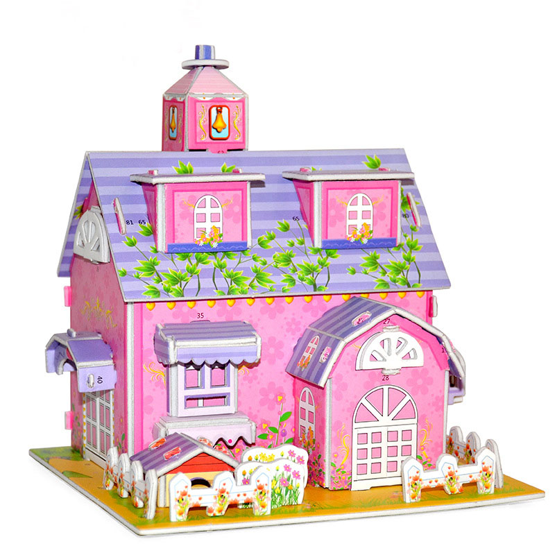 3d Puzzle Paper Doll House Dimensional Model Assembled Educational Toys for Children Jigsaw Kids Toys