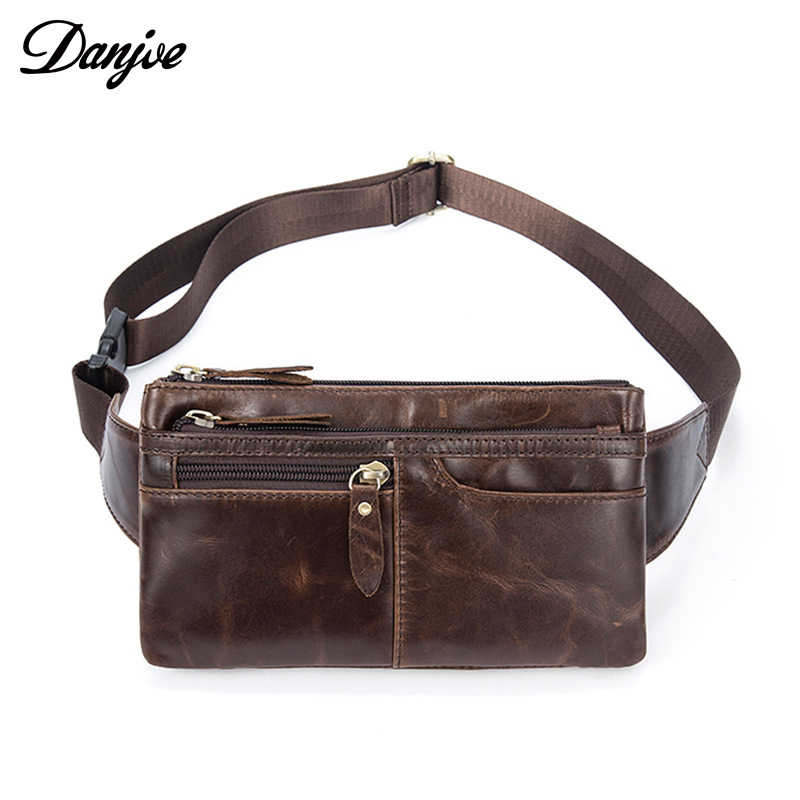 681bc6693fb Detail Feedback Questions about DANJUE Genuine Leather Belt Bag ...