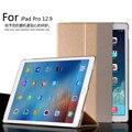 Para a apple ipad pro 12.9 inteligente sono ultra fino designer de tablet caso capa de couro