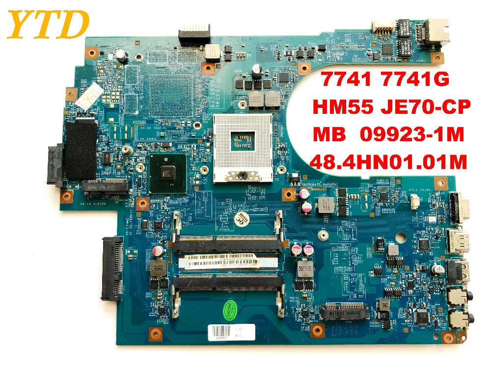 Original For ACER 7741 7741G Laptop Motherboard  HM55 JE70-CP  MB  09923-1M  48.4HN01.01M Tested Good Free Shipping