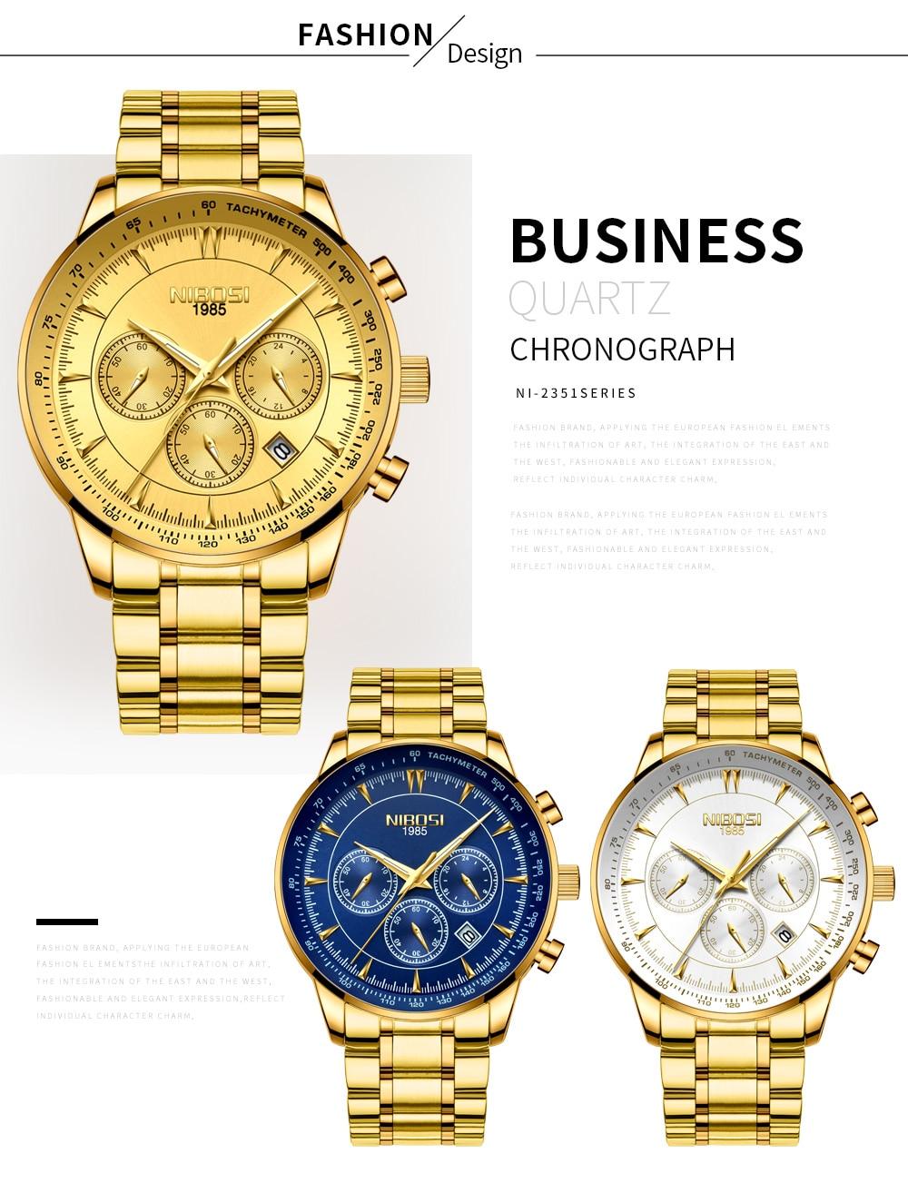 Relogio Masculino NIBOSI Quartz Watches Men Steel Band Men Watches 2018 Luxury Brand Waterproof Wrist Watches For Men Brand Saat (8)