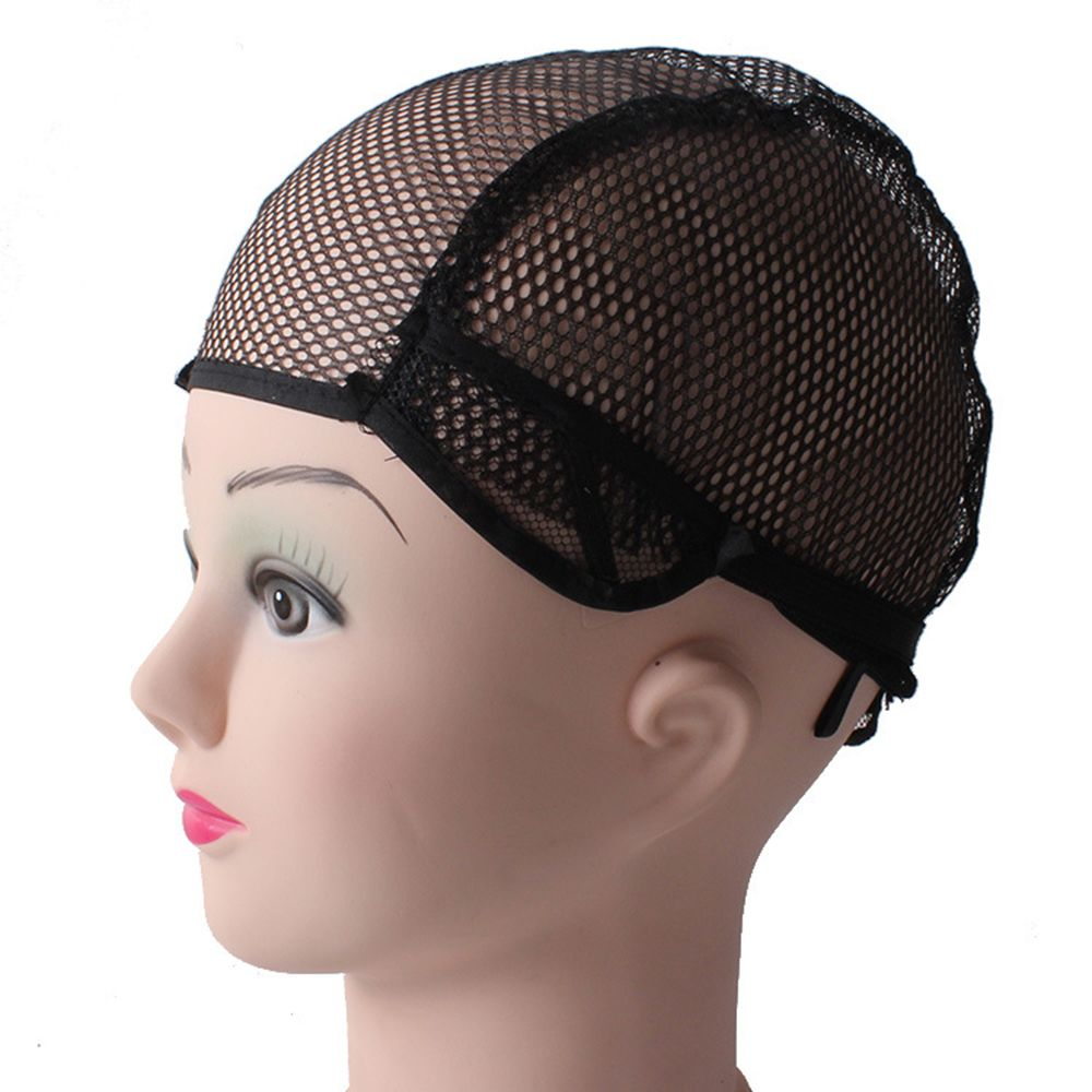Wig cap for making wigs with adjustable strap on the back weaving cap size glueless wig caps good quality Hair Net Black
